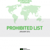 WADA 2016 List of Prohibited Substances and Methods in effect