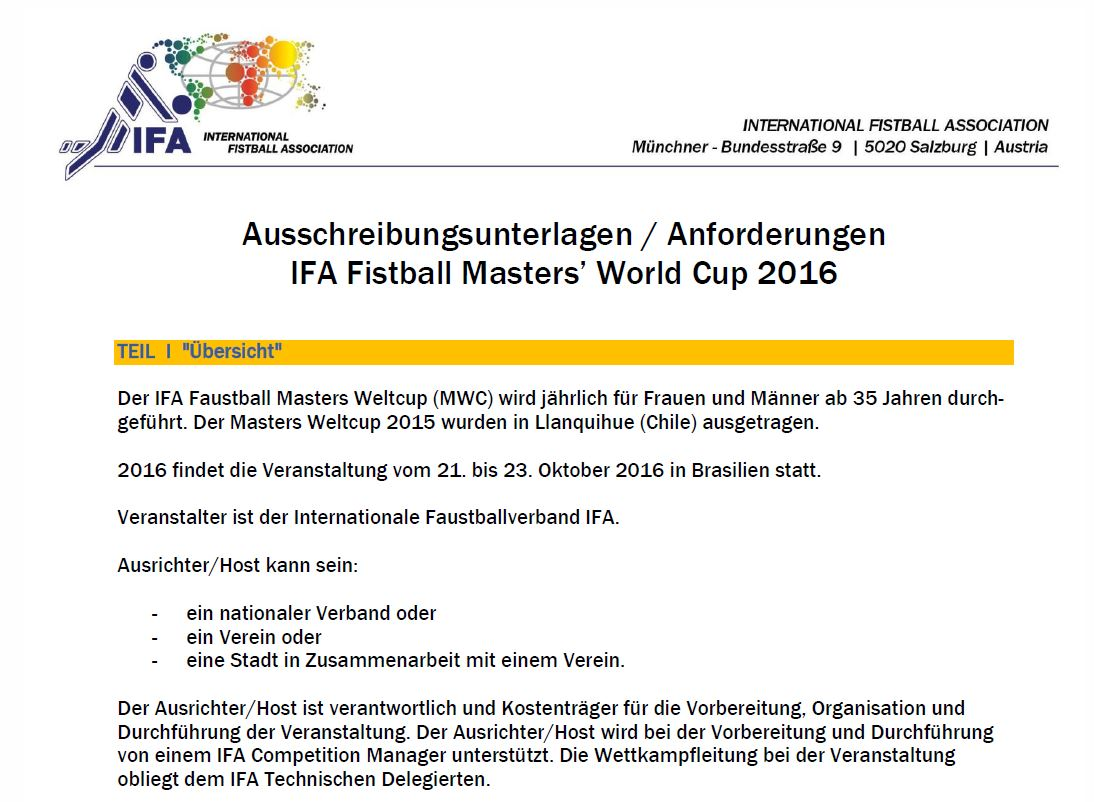 Fistball Masters