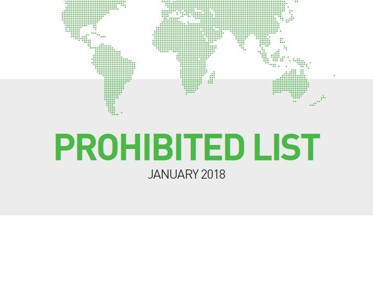 WADA_list_2018